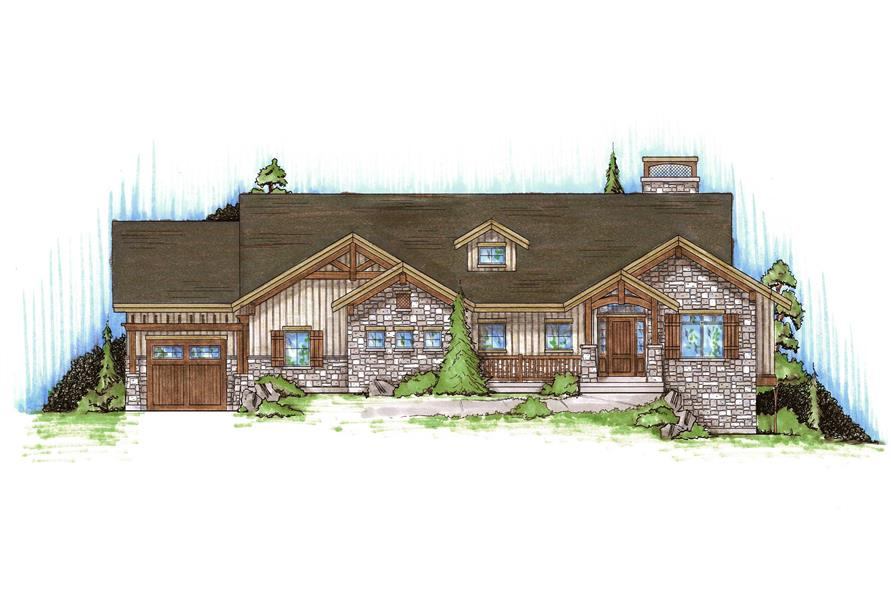 Craftsman house plans home design vh r1761 for Inverted house plans