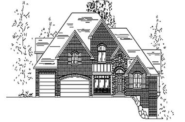 5-Bedroom, 3721 Sq Ft European House Plan - 135-1171 - Front Exterior