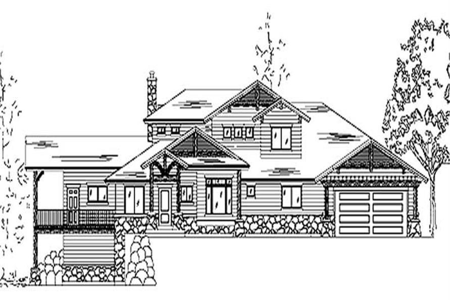 3-Bedroom, 3730 Sq Ft European House Plan - 135-1172 - Front Exterior