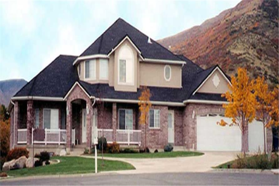 4-Bedroom, 2527 Sq Ft European House Plan - 135-1174 - Front Exterior