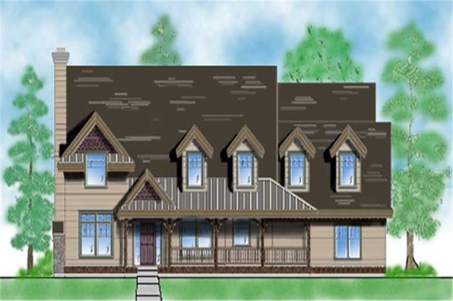 5-Bedroom, 2864 Sq Ft Country House Plan - 135-1176 - Front Exterior