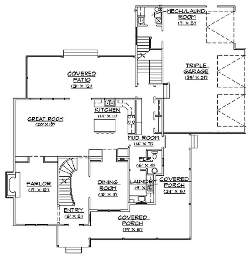 Country European House Plans Home Design Vh Ts2864 11176