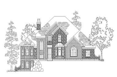 3-Bedroom, 2831 Sq Ft European House Plan - 135-1177 - Front Exterior