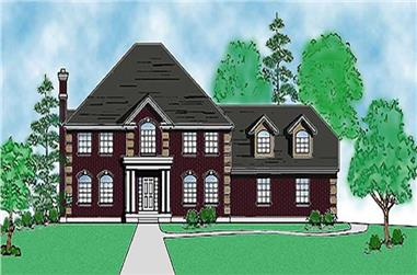 2-Bedroom, 2841 Sq Ft Country House Plan - 135-1178 - Front Exterior