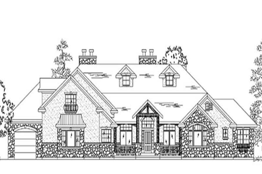 2-Bedroom, 4004 Sq Ft European Home Plan - 135-1180 - Main Exterior