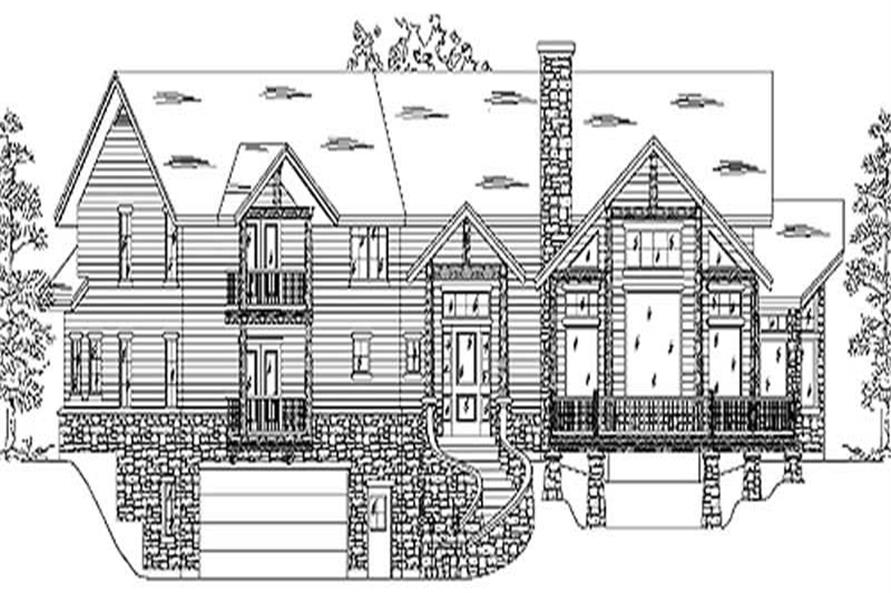 3-Bedroom, 2853 Sq Ft Country House Plan - 135-1181 - Front Exterior