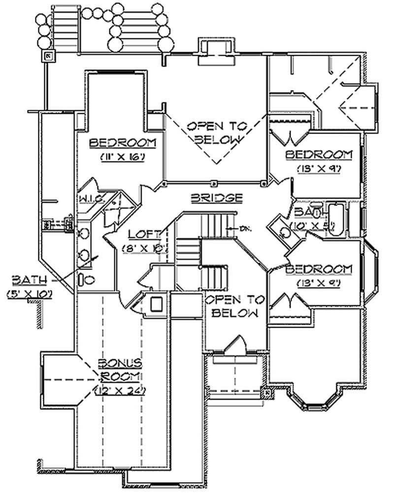 Traditional European House Plans Home Design Vh Ts2834