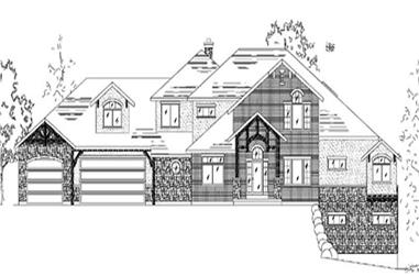 5-Bedroom, 4603 Sq Ft European Home Plan - 135-1184 - Main Exterior