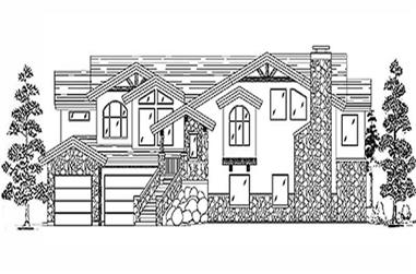 3-Bedroom, 4236 Sq Ft European Home Plan - 135-1185 - Main Exterior