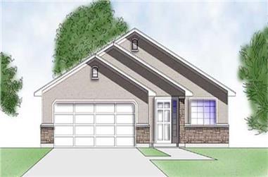2-Bedroom, 998 Sq Ft Ranch Home Plan - 135-1187 - Main Exterior