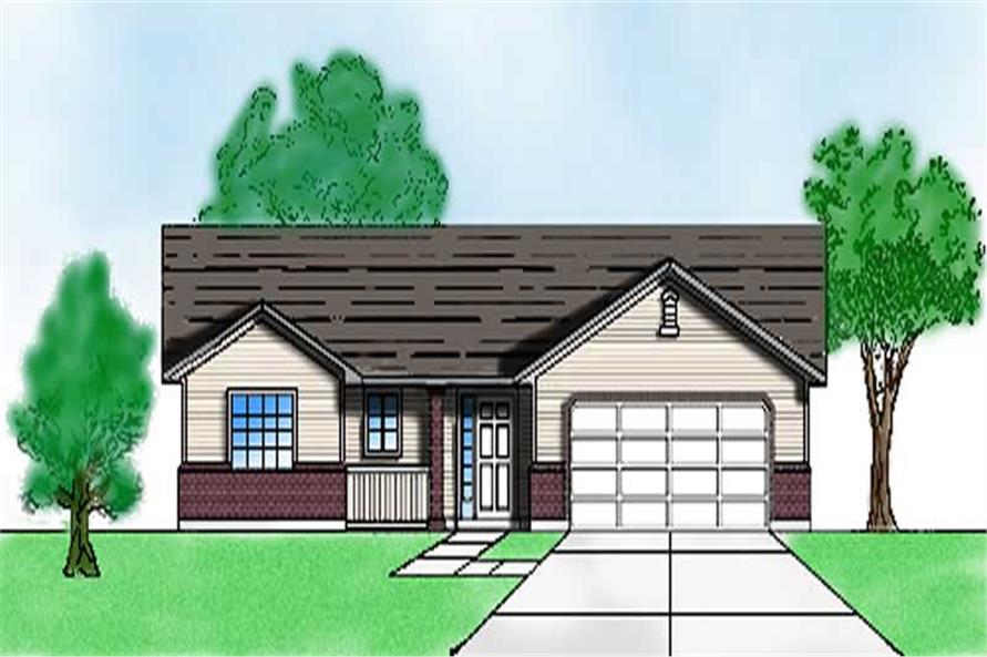 3-Bedroom, 1245 Sq Ft Ranch Home Plan - 135-1188 - Main Exterior