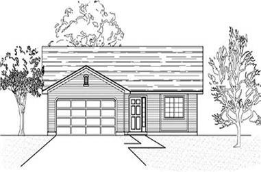 3-Bedroom, 1355 Sq Ft Ranch Home Plan - 135-1189 - Main Exterior