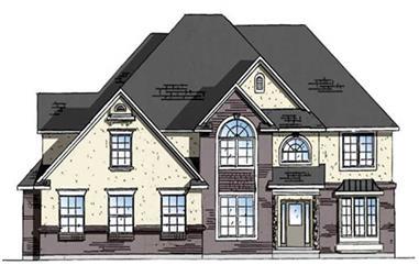 4-Bedroom, 4232 Sq Ft European Home Plan - 135-1191 - Main Exterior