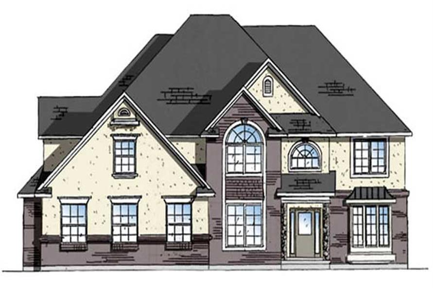 4-Bedroom, 4232 Sq Ft European Home Plan - 135-1191 - Main Exterior