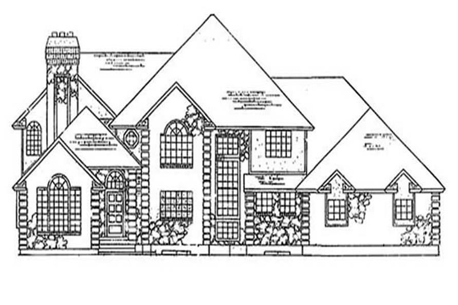 6-Bedroom, 4450 Sq Ft European Home Plan - 135-1194 - Main Exterior
