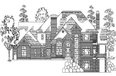 7-Bedroom, 4775 Sq Ft European Home Plan - 135-1196 - Main Exterior