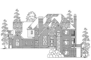 5-Bedroom, 4775 Sq Ft European Home Plan - 135-1197 - Main Exterior