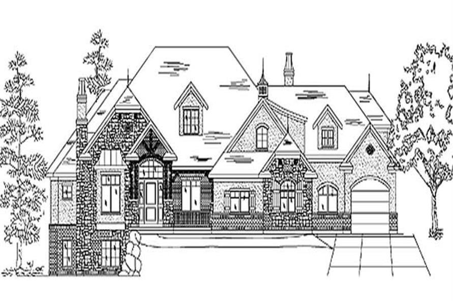 Home Plan Rendering of this 5-Bedroom,4793 Sq Ft Plan -135-1198