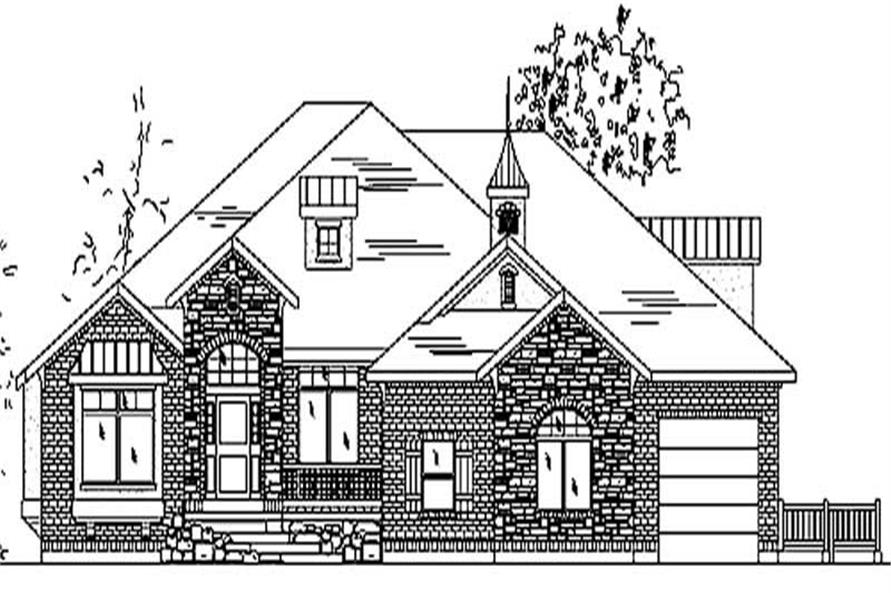 7-Bedroom, 3280 Sq Ft European House Plan - 135-1199 - Front Exterior