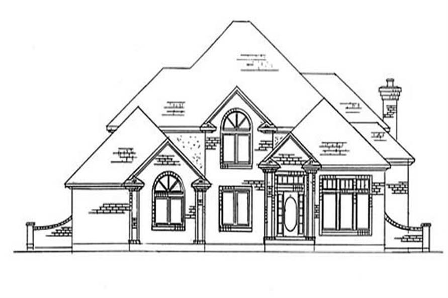 6-Bedroom, 3307 Sq Ft European House Plan - 135-1203 - Front Exterior