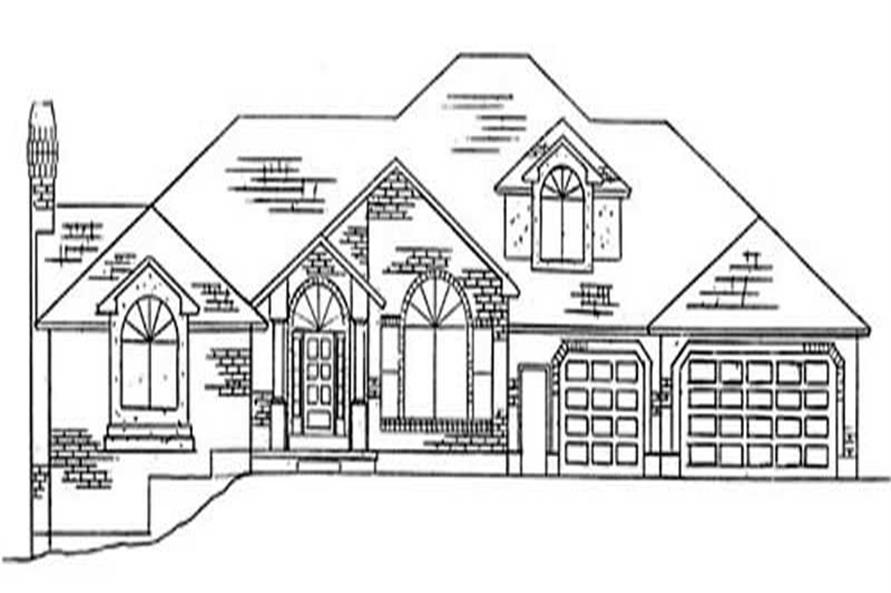 5-Bedroom, 3567 Sq Ft European House Plan - 135-1204 - Front Exterior
