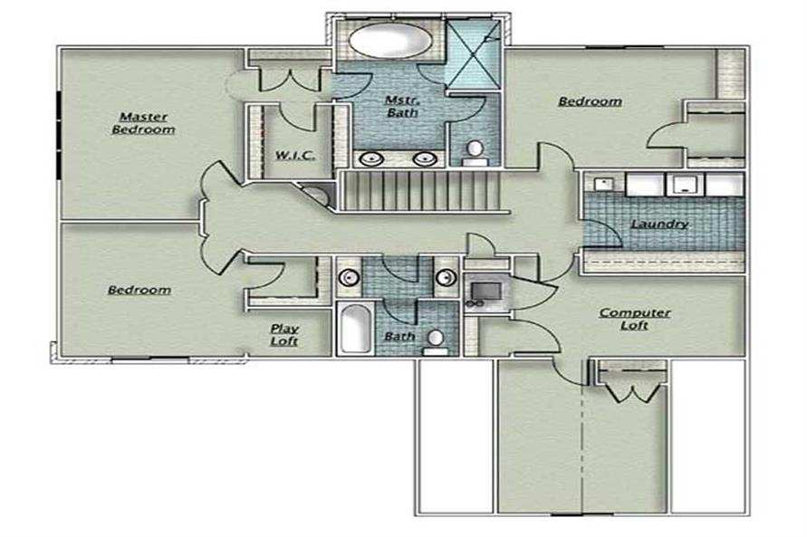 Home Plan Other Image of this 3-Bedroom,2348 Sq Ft Plan -135-1206