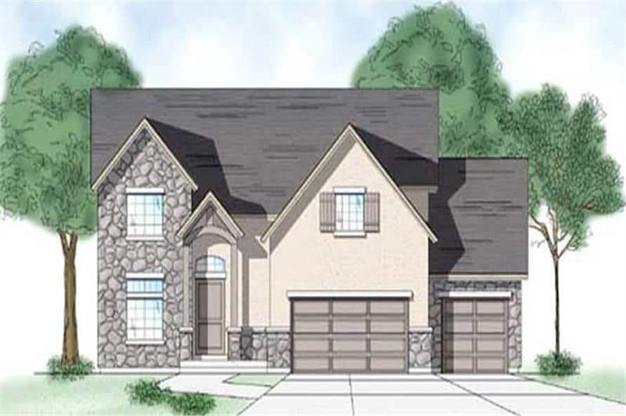 Home Plan Rendering of this 3-Bedroom,2348 Sq Ft Plan -135-1206