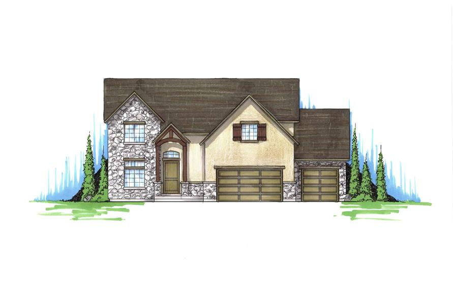 3-Bedroom, 2348 Sq Ft Country House Plan - 135-1206 - Front Exterior