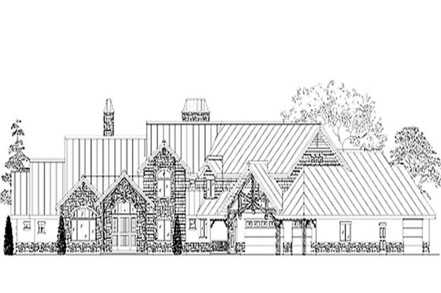 5-Bedroom, 5233 Sq Ft European House Plan - 135-1207 - Front Exterior