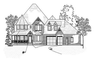 4-Bedroom, 3191 Sq Ft Country House Plan - 135-1210 - Front Exterior