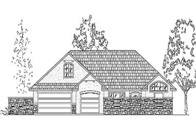 3-Bedroom, 2463 Sq Ft Country House Plan - 135-1212 - Front Exterior