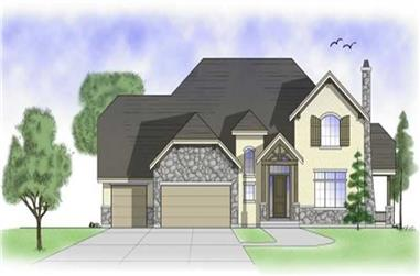 3-Bedroom, 2816 Sq Ft Country House Plan - 135-1213 - Front Exterior