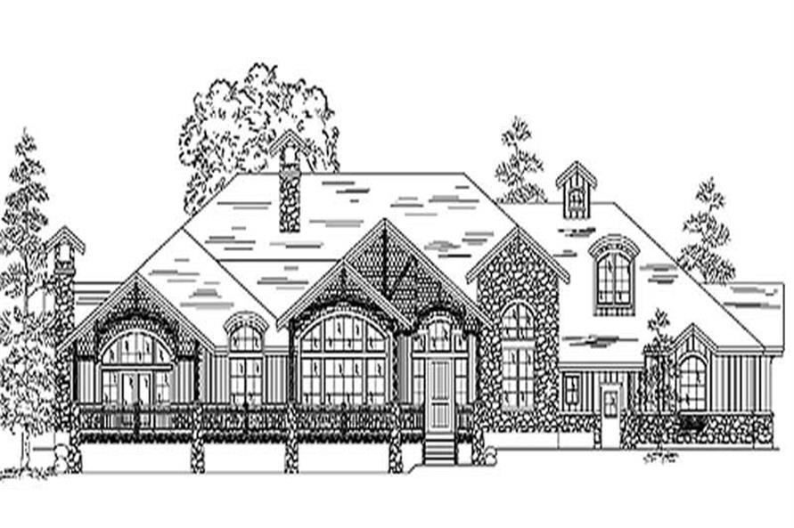 Home Plan Rendering of this 5-Bedroom,3817 Sq Ft Plan -135-1215