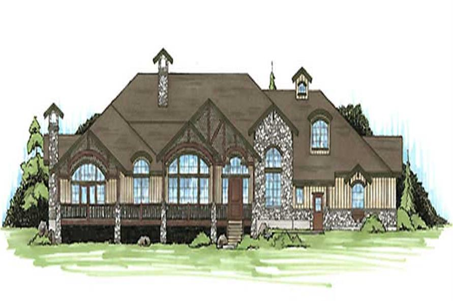 5-Bedroom, 3817 Sq Ft Country House Plan - 135-1215 - Front Exterior