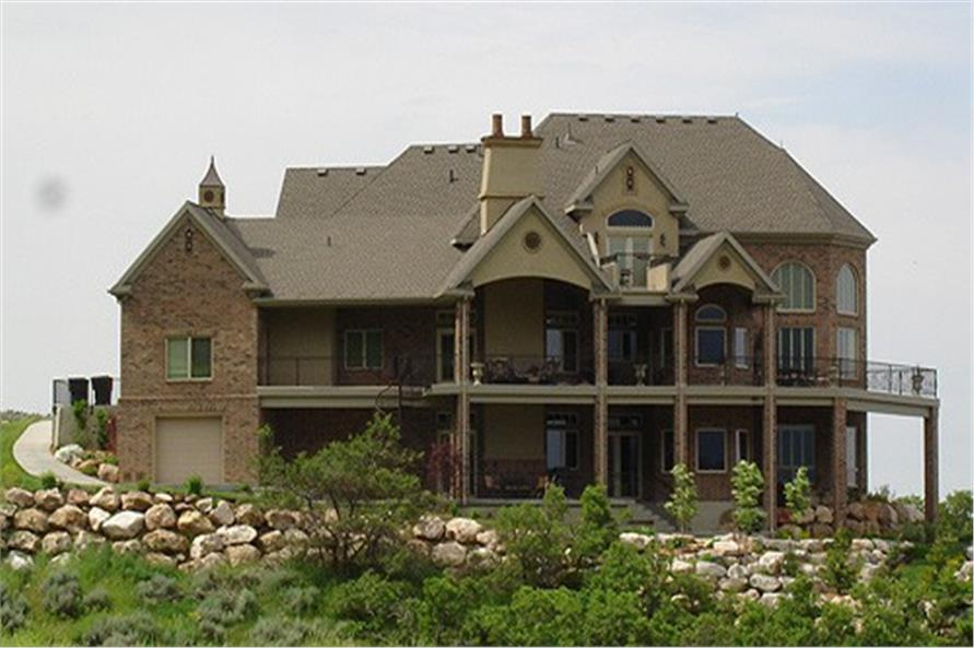 Rear View of this 6-Bedroom,3934 Sq Ft Plan -135-1216