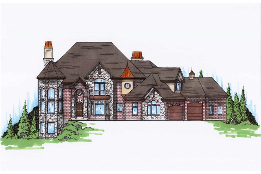 Front View of this 6-Bedroom,3934 Sq Ft Plan -135-1216