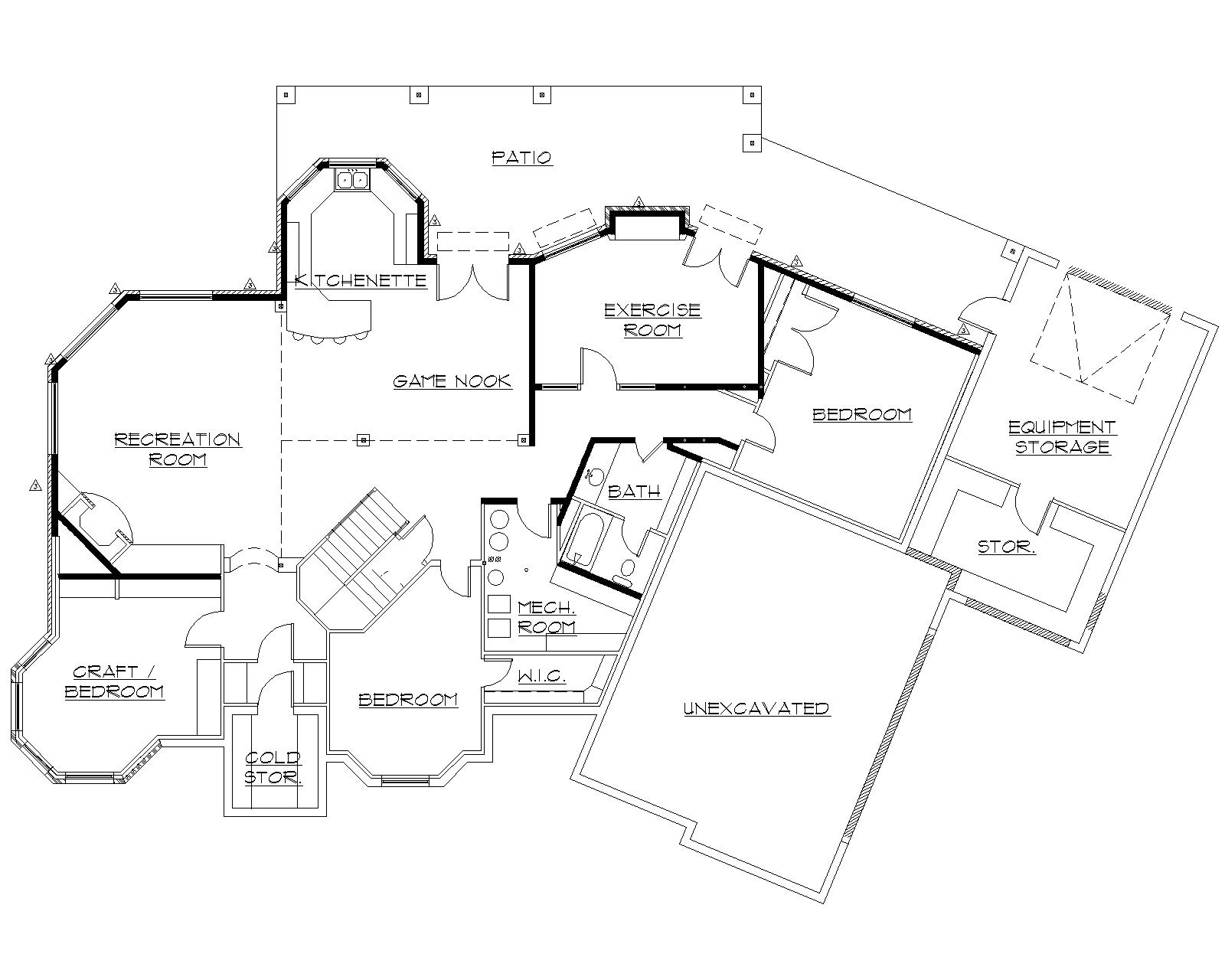 135-1216: Floor Plan Basement