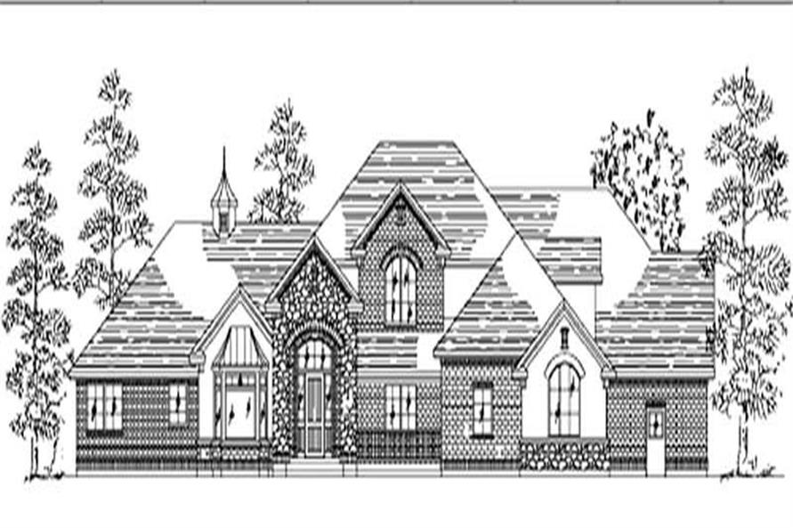6-Bedroom, 4278 Sq Ft European Home Plan - 135-1217 - Main Exterior