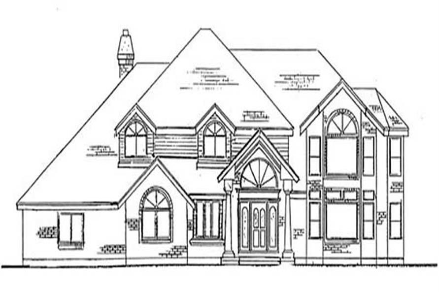 4-Bedroom, 3500 Sq Ft European House Plan - 135-1223 - Front Exterior