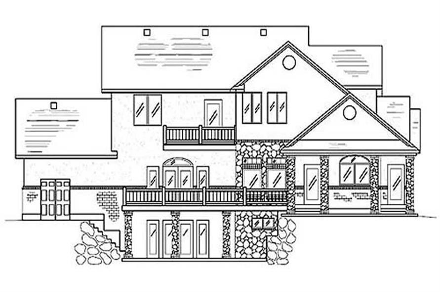 Traditional European House Plans Home Design Vh Ts3608a