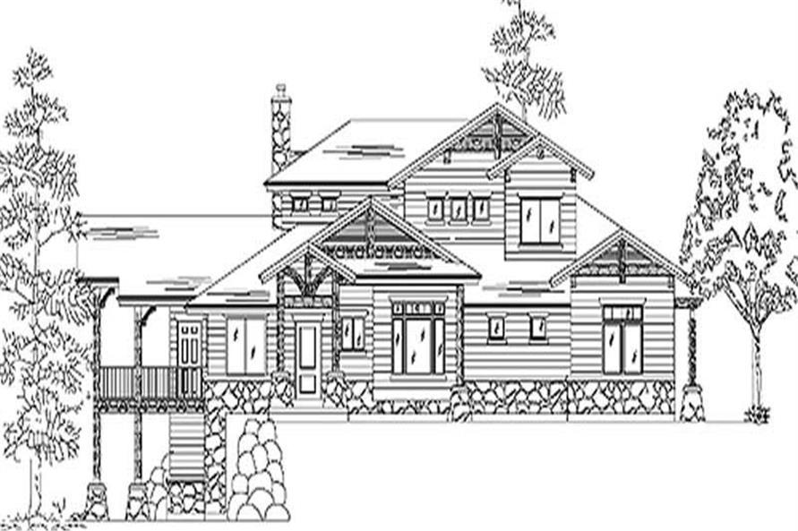 2-Bedroom, 2640 Sq Ft European House Plan - 135-1230 - Front Exterior