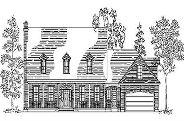 5-Bedroom, 4174 Sq Ft Cape Cod House Plan - 135-1231 - Front Exterior