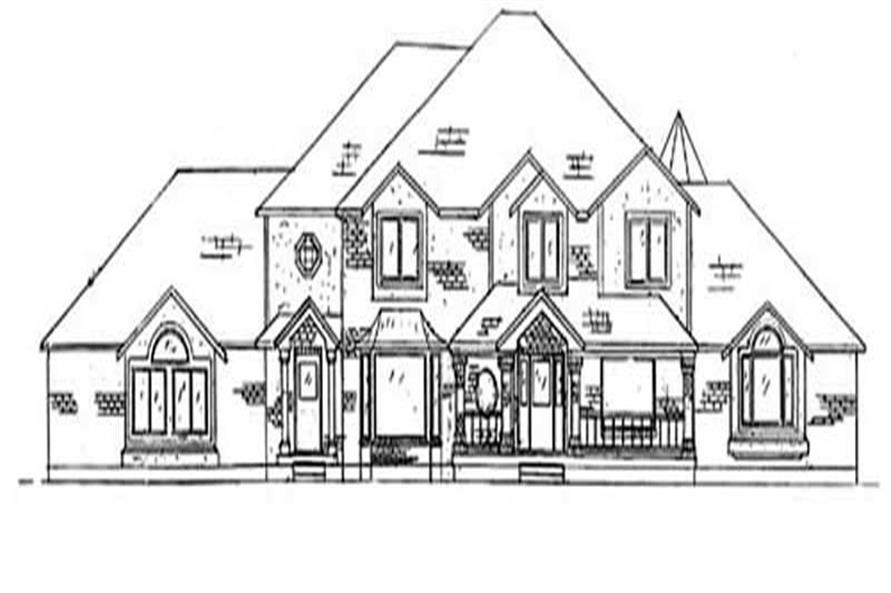 6-Bedroom, 4970 Sq Ft European Home Plan - 135-1232 - Main Exterior