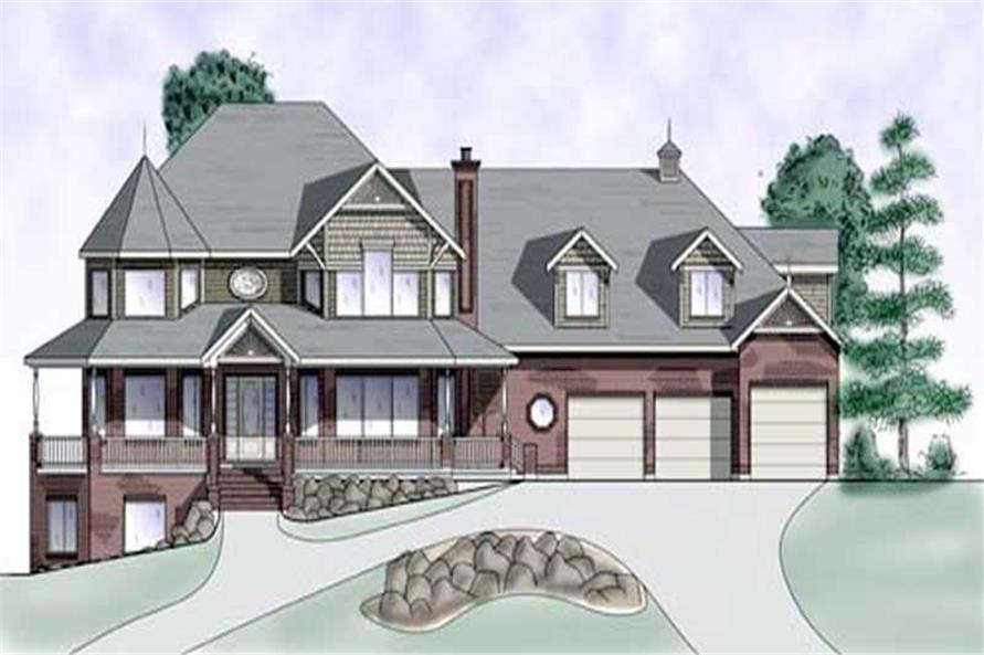 5-Bedroom, 5090 Sq Ft European House Plan - 135-1233 - Front Exterior