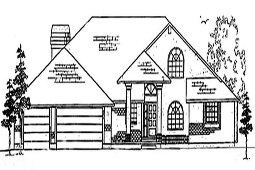 6-Bedroom, 3077 Sq Ft European House Plan - 135-1234 - Front Exterior