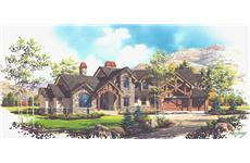 Luxury House Plans VH-TS5421 color rendering.