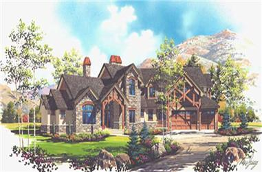 6-Bedroom, 5421 Sq Ft European House Plan - 135-1235 - Front Exterior