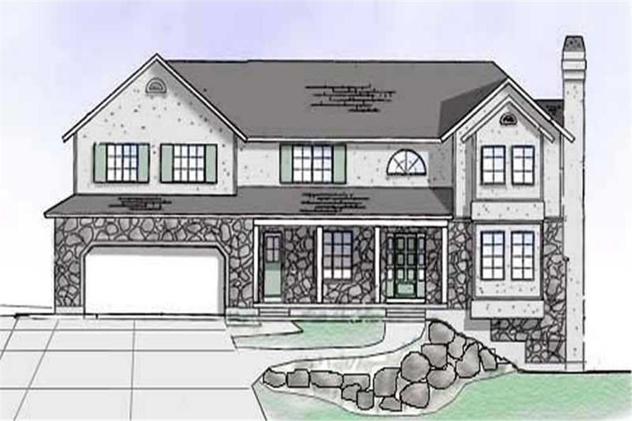 6-Bedroom, 3021 Sq Ft European House Plan - 135-1236 - Front Exterior