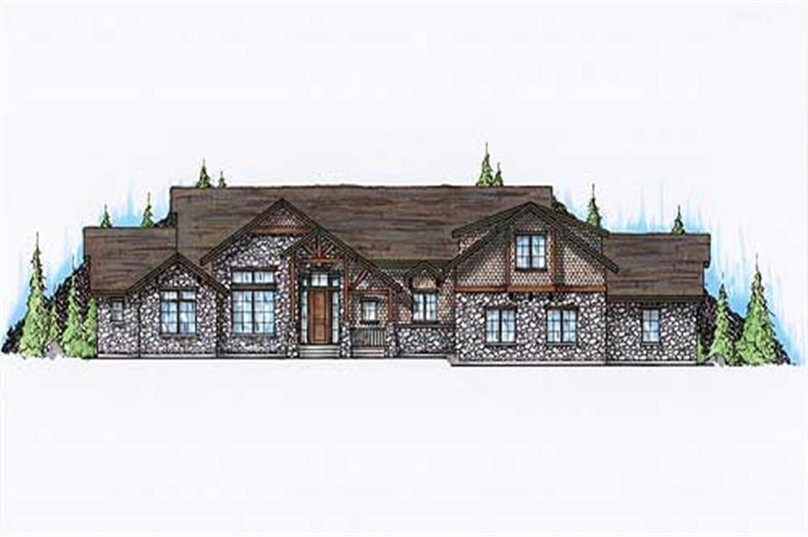 2-Bedroom, 3076 Sq Ft European House Plan - 135-1237 - Front Exterior