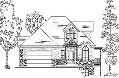 1-Bedroom, 2273 Sq Ft European House Plan - 135-1238 - Front Exterior